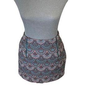 Zara Trafaluc Brocade Style Mini Skirt